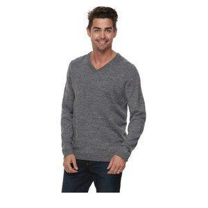 NEW Apt 9 Gray Soft Merino Wool Sweater *